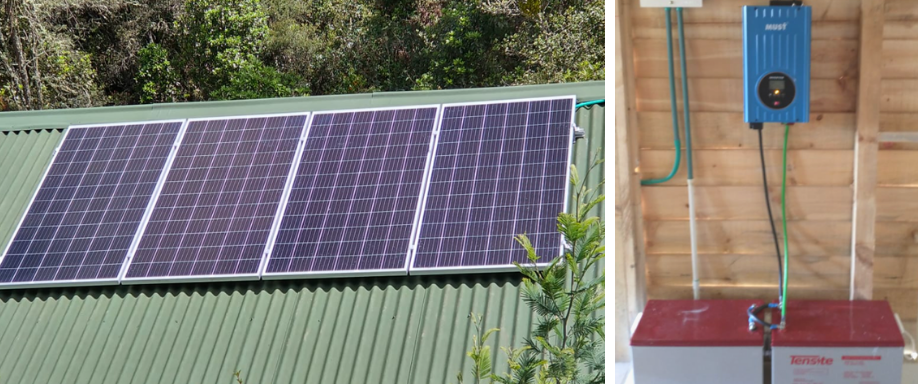 Instalación aislada en La Calera con Must Solar y Tensite