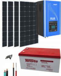 Kit Solar 1000W 12V 3000Whdía con Batería de Gel