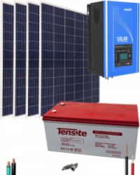 Kit Solar 1000W 12V 4000Whdía con Batería AGM