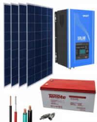 Kit Solar 1000W 12V 4000Whdía con Batería de Gel