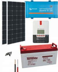 Kit Solar 250W 12V 1000Whdía con MPPT