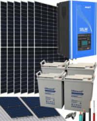 Kit Solar 3000W 24V 10200Whdía con Batería de Gel