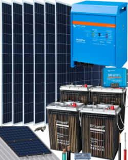 Kit Solar 3000W 24V 10200Whdía Victron