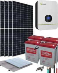 Kit Solar 3000W 24V 6800Whdía con Batería de Gel