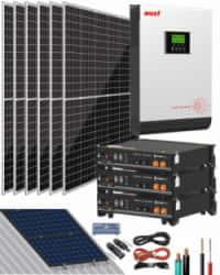 Kit Solar 3000W 48V 12000Whdía Litio