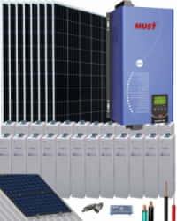 Kit Solar 4000W 48V 16000Whdía OPzV