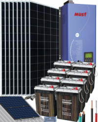 Kit Solar 4000W 48V 16000Whdía UZS