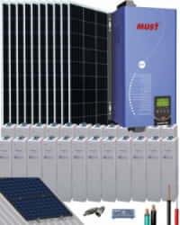 Kit Solar 5000W 48V 20000Whdía OPzV