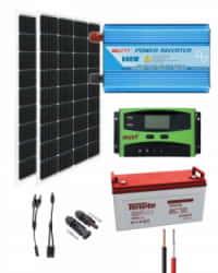 Kit Solar 500W 12V 2000Whdía